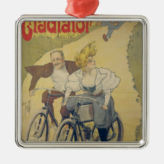 Poster advertising Gladiator bicycles Christmas Ornament