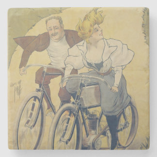 Poster advertising Gladiator bicycles Stone Coaster