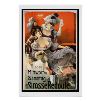 Poster Advertising Grosse Redoute colour litho