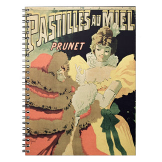 Poster advertising 'Honey Pastilles' by Prunet, Pa Note Book
