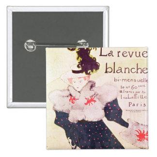 Poster advertising 'La Revue Blanche', 1895 15 Cm Square Badge