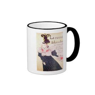 Poster advertising 'La Revue Blanche', 1895 Ringer Mug