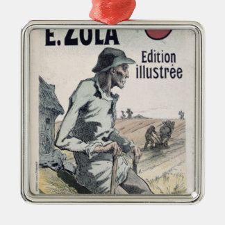 Poster advertising 'La Terre' by Emile Zola, 1889 Christmas Ornament