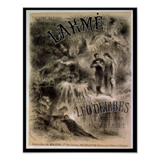 Poster advertising 'Lakme'