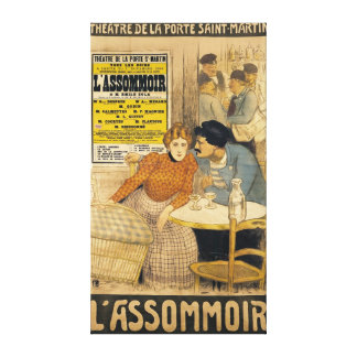 Poster advertising L'Assommoir by M.M.W. Canvas Print