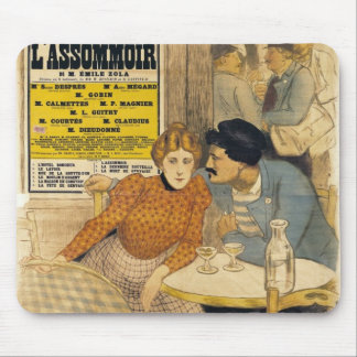 Poster advertising L'Assommoir by M.M.W. Mouse Mat