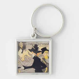 Poster advertising 'Le Divan Japonais', 1892 Silver-Colored Square Key Ring