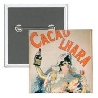 Poster advertising 'Lhara Creme de Cacao', Digon ( Pinback Button