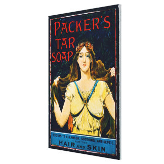 Poster advertising 'Packer's Tar Soap' (colour lit Canvas Print