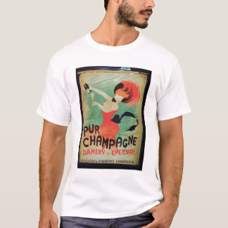 Poster advertising 'Pur Champagne', from Damery, E T-Shirt