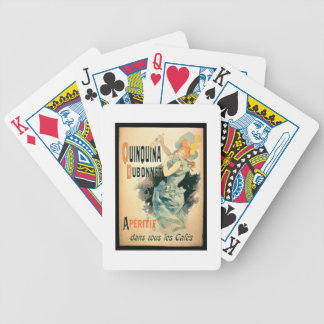Poster advertising 'Quinquina' by Dubonnet (colour Bicycle Playing Cards