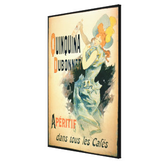Poster advertising 'Quinquina' by Dubonnet (colour Canvas Print