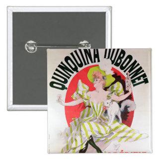 Poster advertising Quinquina Dubonnet' 15 Cm Square Badge