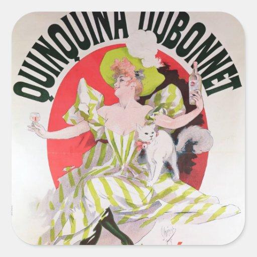 Poster advertising Quinquina Dubonnet' Sticker