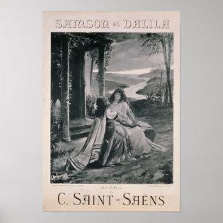 Poster advertising 'Samson and Dalila'