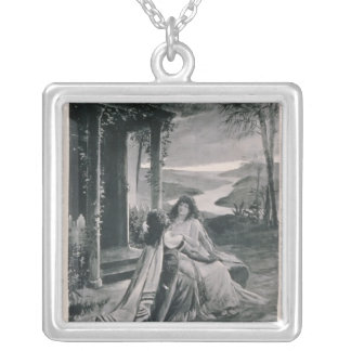Poster advertising 'Samson and Dalila' Silver Plated Necklace