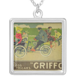 Poster advertising silver plated necklace