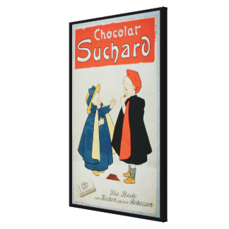 Poster advertising 'Suchard Chocolate' (colour lit Canvas Print