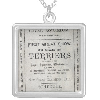 Poster advertising the Allied Terrier Club Silver Plated Necklace