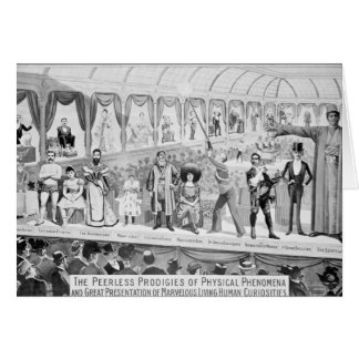 Poster advertising, 'The Barnum and Bailey Card