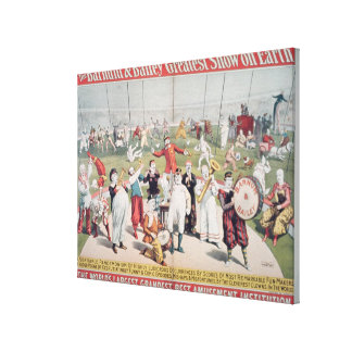 Poster advertising the Barnum Canvas Print