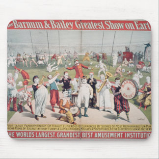 Poster advertising the Barnum Mouse Mat