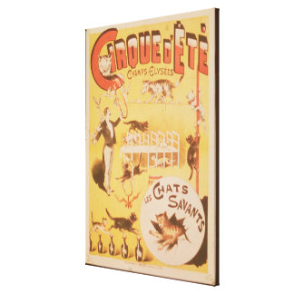 Poster advertising the Cirque d'Ete in the Canvas Print