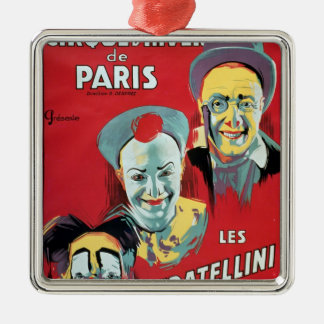 Poster advertising the 'Cirque d'Hiver de Paris' Christmas Ornament