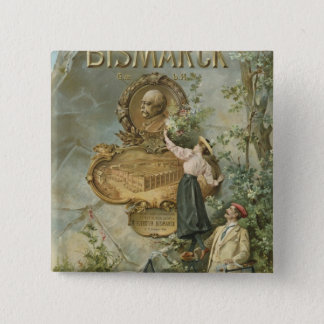 Poster advertising the Fahrrad Werke Bismarck 15 Cm Square Badge