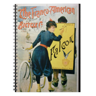 Poster advertising 'The Franco-American Bicycle Co Spiral Notebook