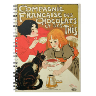 Poster Advertising the French Company of Chocolate Notebook