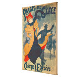Poster advertising the Palais de Glace Stretched Canvas Print
