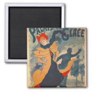 Poster advertising the Palais de Glace Square Magnet
