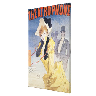Poster Advertising the 'Theatrophone' Canvas Print