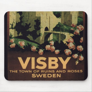 Poster advertising the town of Visby, Sweden (colo Mouse Mat