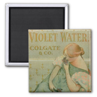 Poster advertising 'Violet Water', by Colgate & Co Magnet