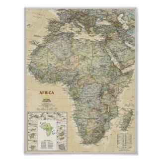 Poster - Africa National Geographic Map