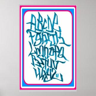 Poster - alphabets grafitti