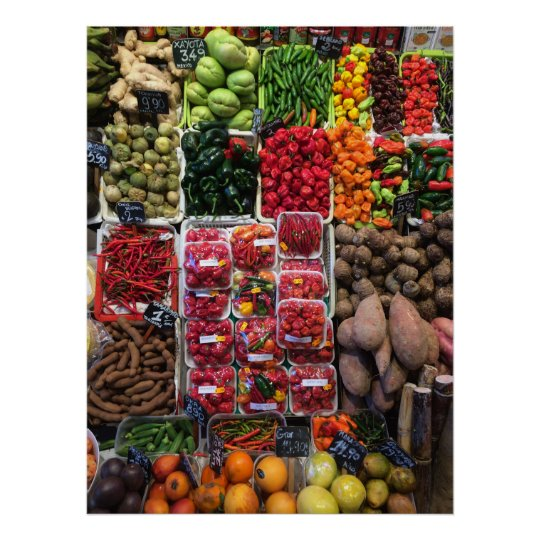 Poster And Vegetables Print Wall Art Home Gift
