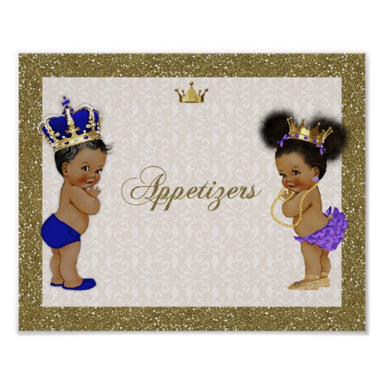 Poster Appetizers, gold, Glitter