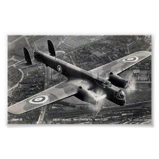 "Poster, Armstrong Whitworth ""Whitley"" Bomber"