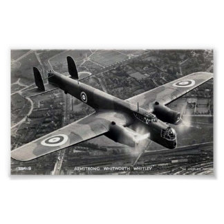 "Poster, Armstrong Whitworth ""Whitley"" Bomber Poster"