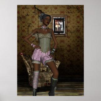 Poster Art Pin-up Girls Vintage Girl 2