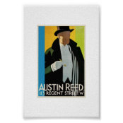 Austin Reed Art Deco Ad 16 X 20 Poster Zazzle Co Uk