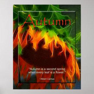 Poster - Autumn - Sunflower