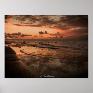 Poster Baltic Sea - sunset - beach