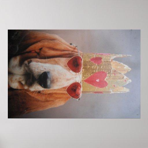 Poster Basset Hound King