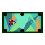 POSTER BILLIARDS Pool Table ABSTRACT Racked&Ready