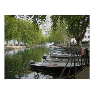 Poster: Boats Canal Lake Annecy France Poster