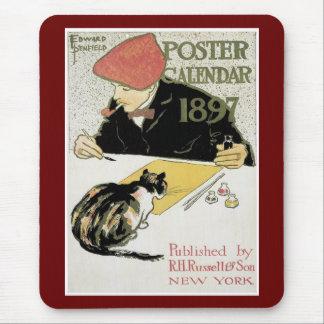 Poster Calendar 1897 Mouse Pad
